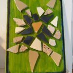 First Hour Grief Art thereapy mosaic green